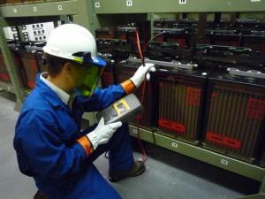 Man Testing Battery